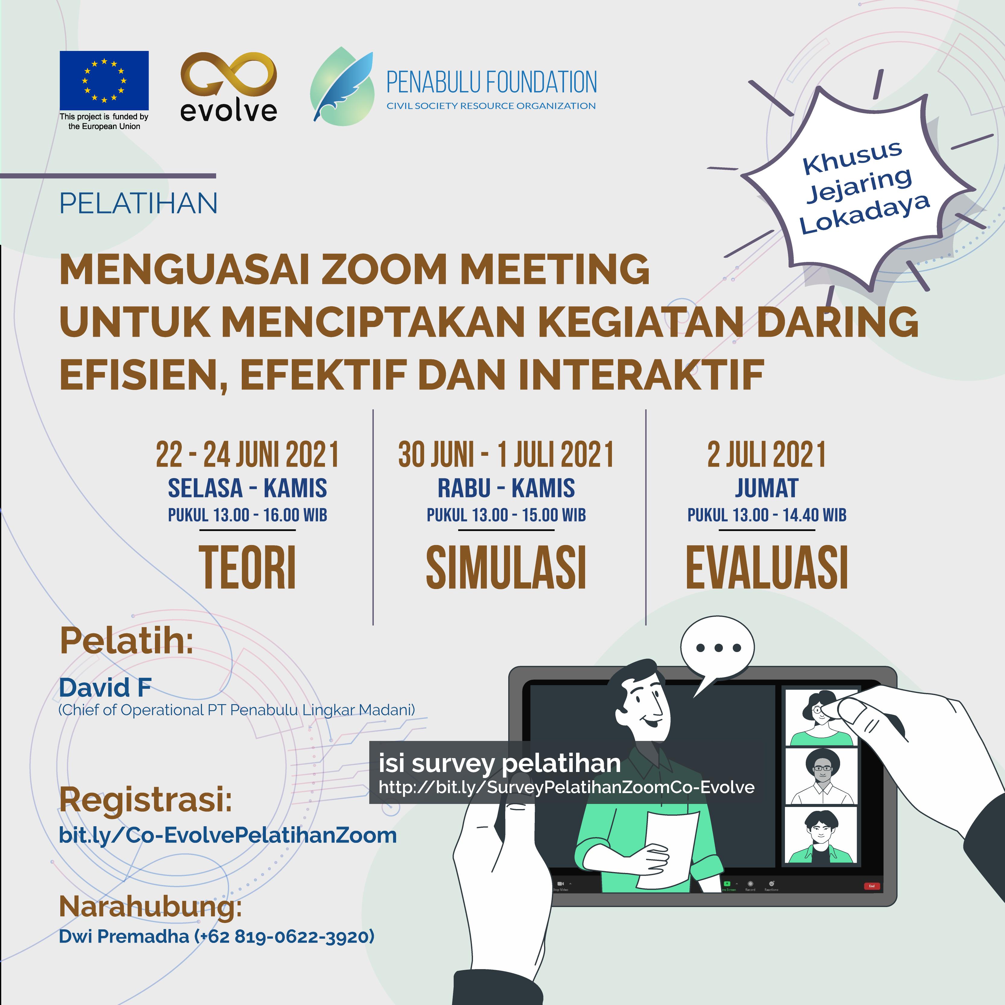 """Pelatihan Daring """"Menguasai Zoom Meeting untuk Menciptakan Kegiatan Daring Efisien, Efektif dan Interaktif"""