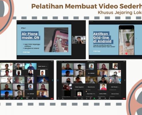 Pelatihan Membuat Video Sederhana